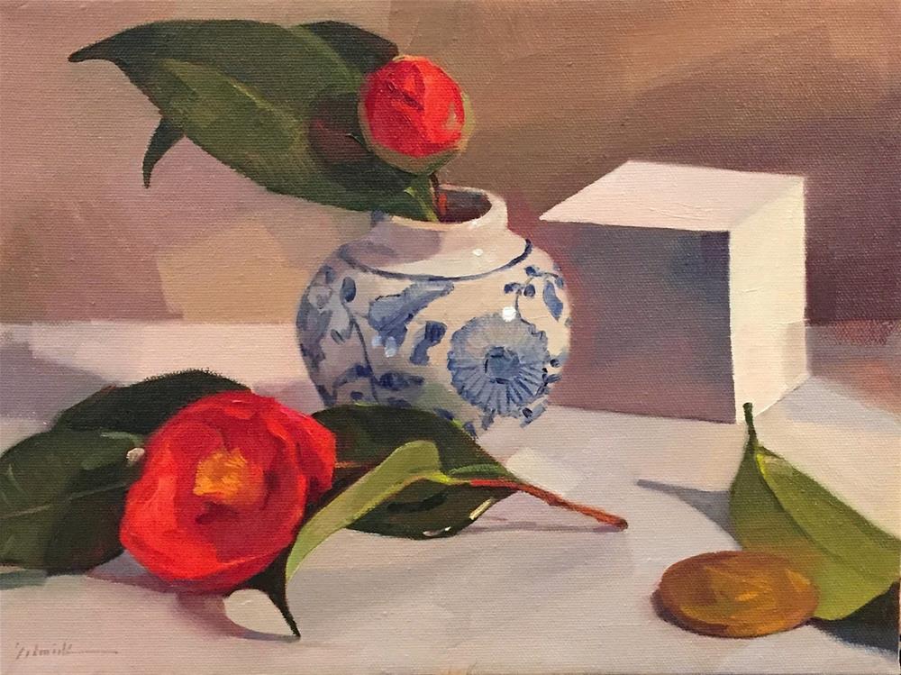"""""""Bud and Blossom"""" original fine art by Sarah Sedwick"""