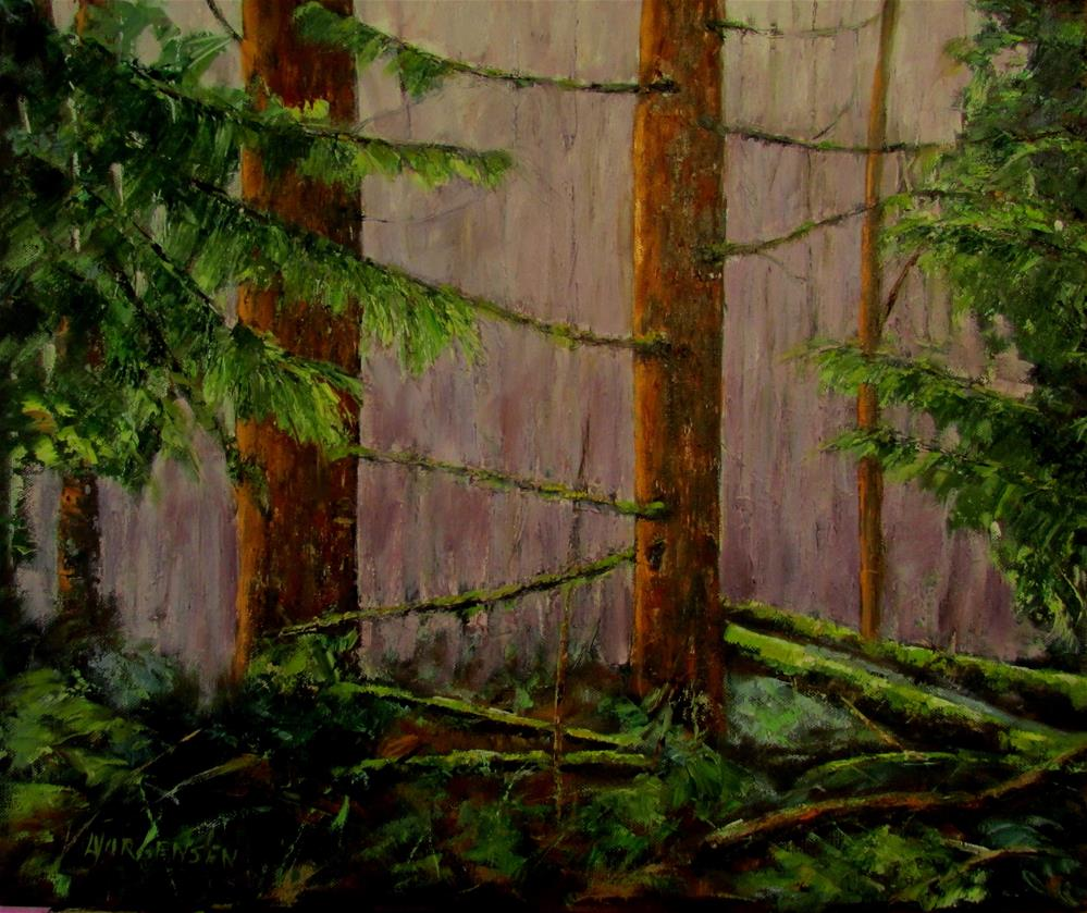 """20 x 24 inch oil The Guardians"" original fine art by Linda Yurgensen"