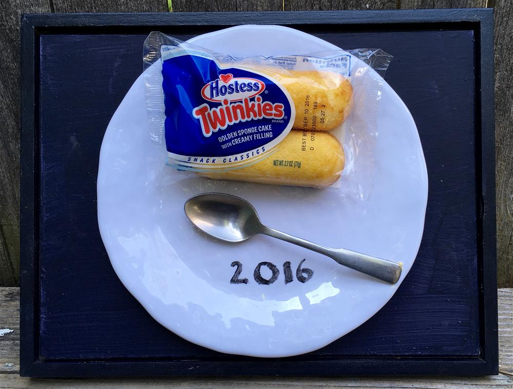 """Twinkies On A Plate"" original fine art by Fred Bell"