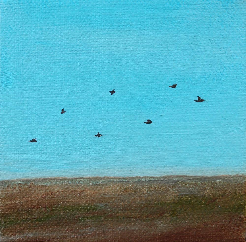 """""""In Flight"""" original fine art by Eva Art"""