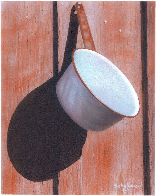 """Hangin' Round"" original fine art by Fred Schollmeyer"