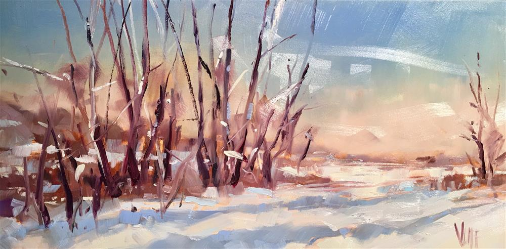 """#436 Minnesota Winter"" original fine art by Patty Voje"
