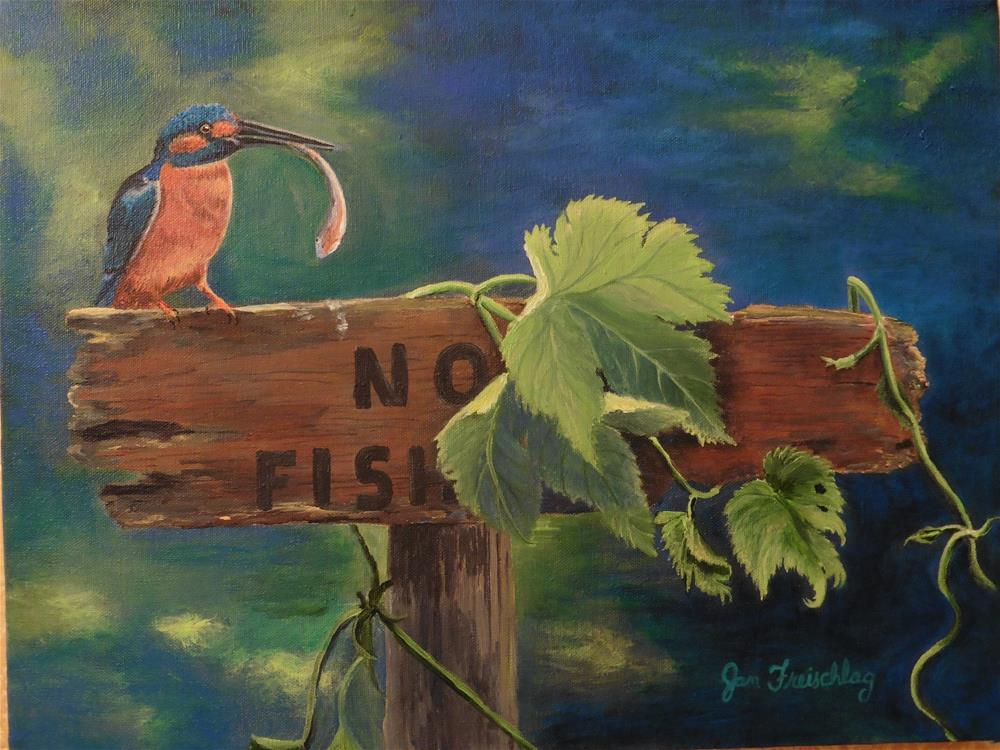 """No fishing"" original fine art by Janice Freischlag"