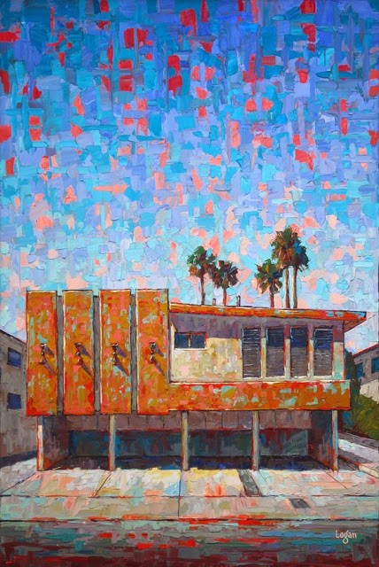 """The Orange Grove Apts"" original fine art by Raymond Logan"