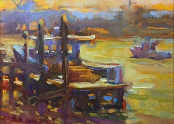 """Yellow Water"" original fine art by Karen Bruson"