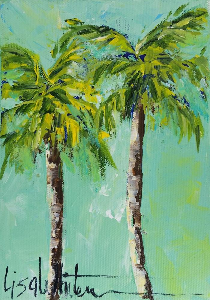 """84 - Lil' palms"" original fine art by Lisa Whitener"