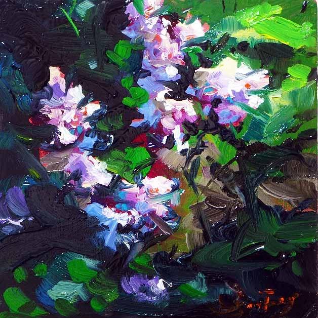"""The most beautiful lilac"" original fine art by Jurij Frey"