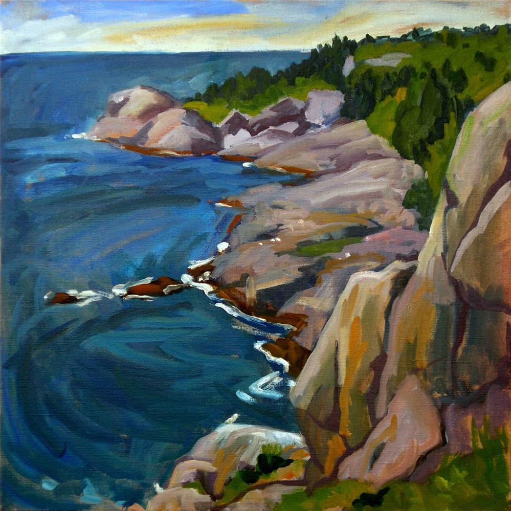 """""""The Headlands, Monhegan Island Maine"""" original fine art by Thor Wickstrom"""