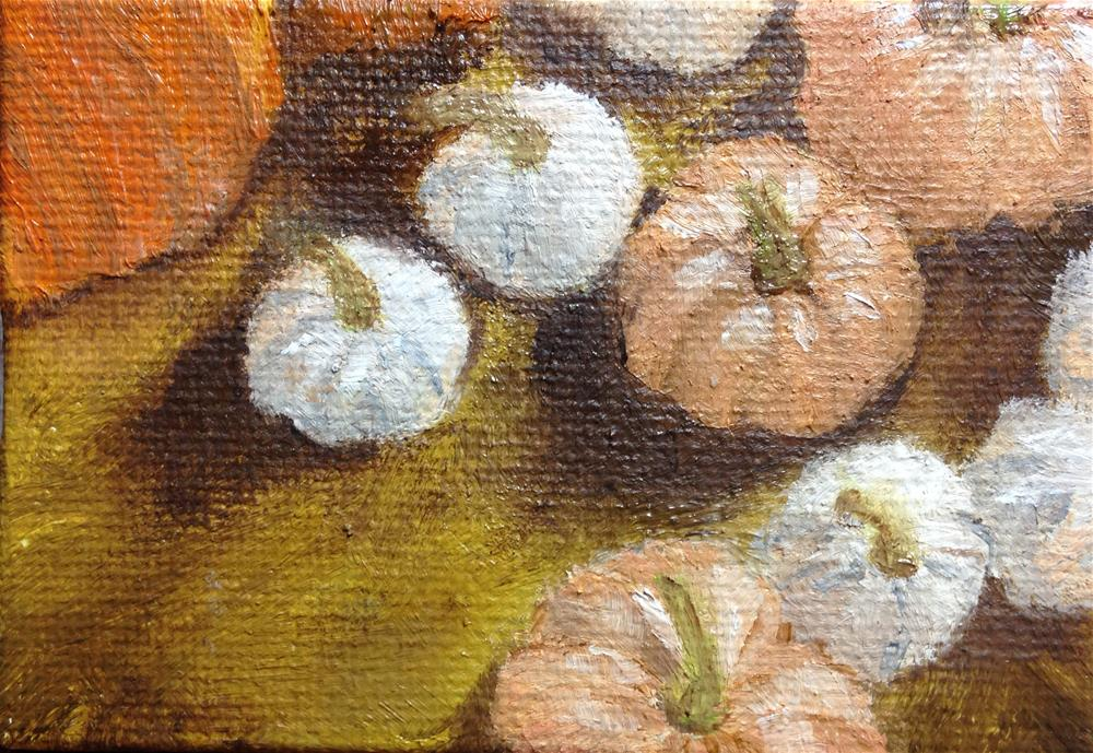 """Pumpkins"" original fine art by Joy McMicken"