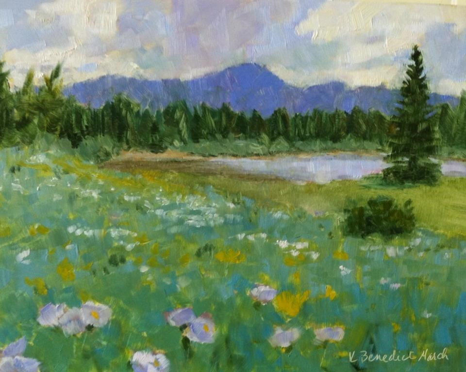 """Field of Wildflowers"" original fine art by Katharine March"