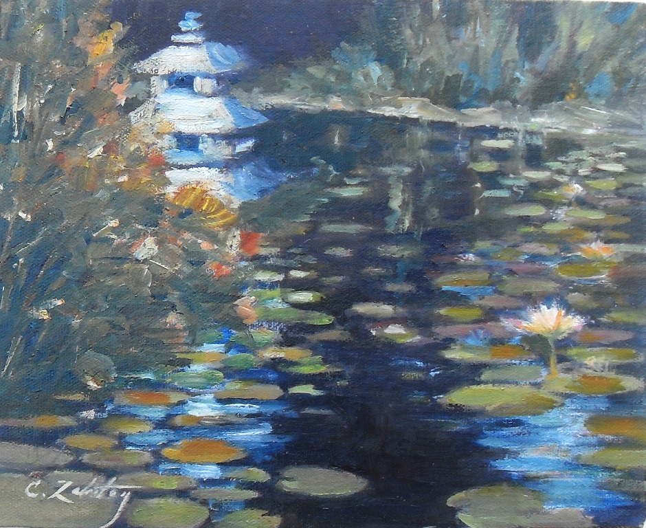 """Night Reflections"" original fine art by Catherine Zakutney"
