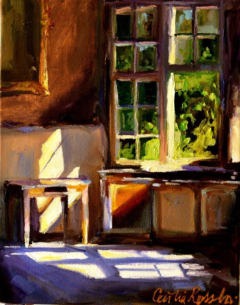 """""""SUNLIT KITCHEN"""" original fine art by Cecilia Rosslee"""