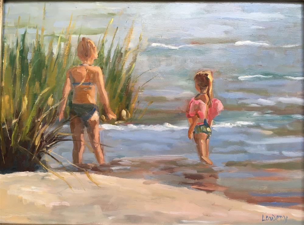 """At the Beach"" original fine art by Wanda Lowery"