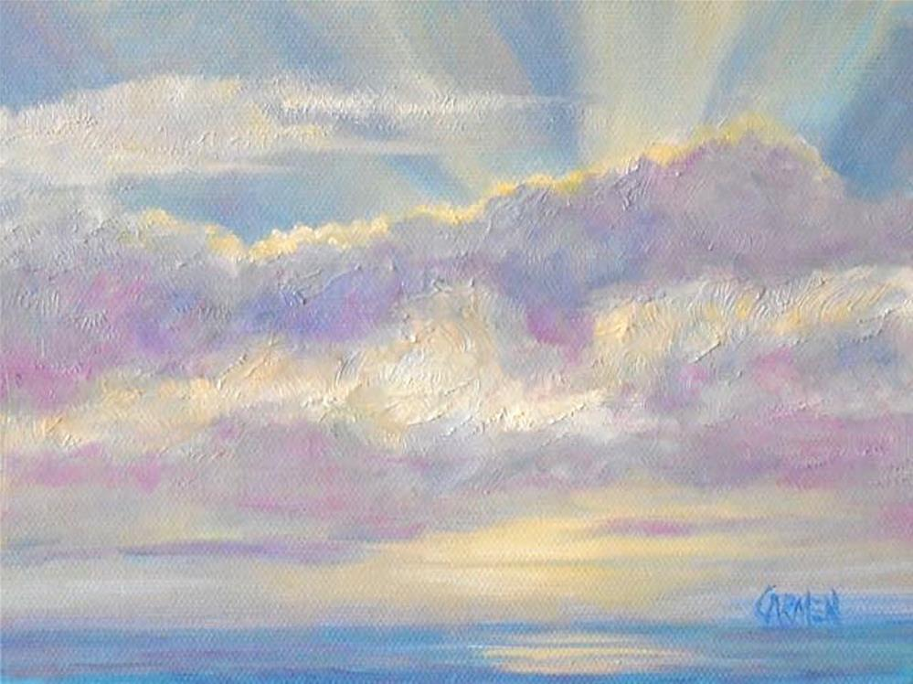 """Pale Sunrise, 8x6 Oil on Canvas Panel"" original fine art by Carmen Beecher"