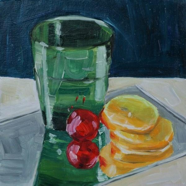 """Lemonade"" original fine art by Aniko Makay"