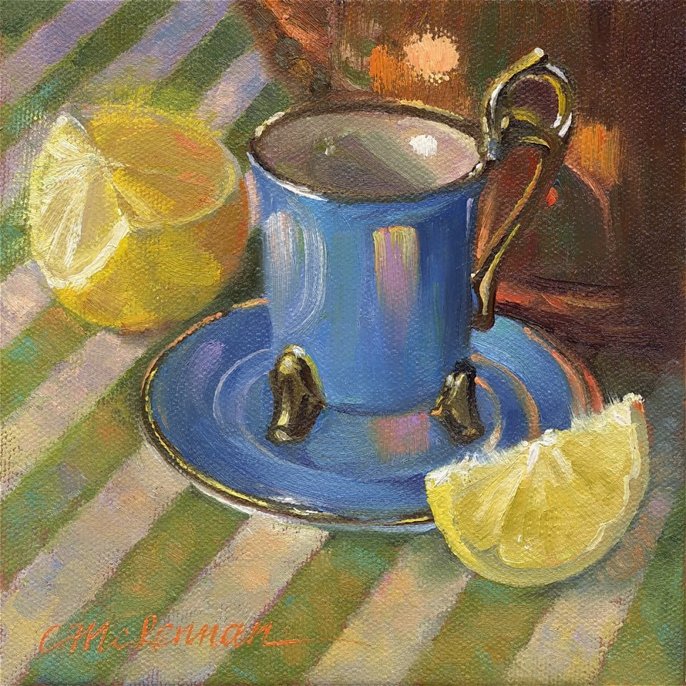"""Tall Teacup"" original fine art by Connie McLennan"