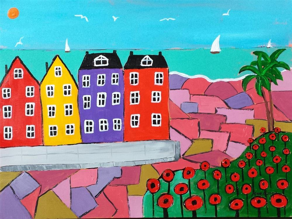 """Seaside Condos"" original fine art by Karleen Kareem"