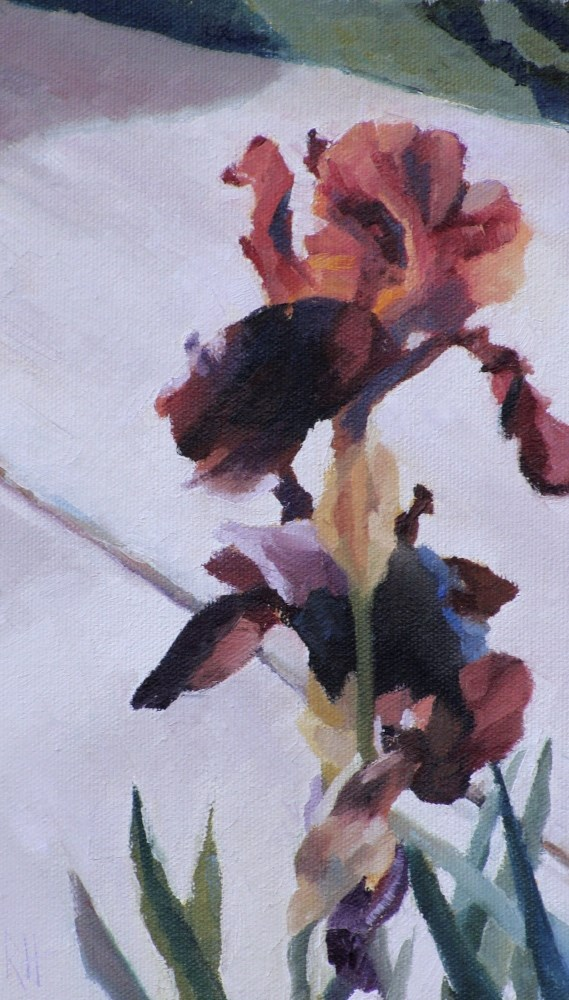 """By the Driveway"" original fine art by Rebecca Helton"
