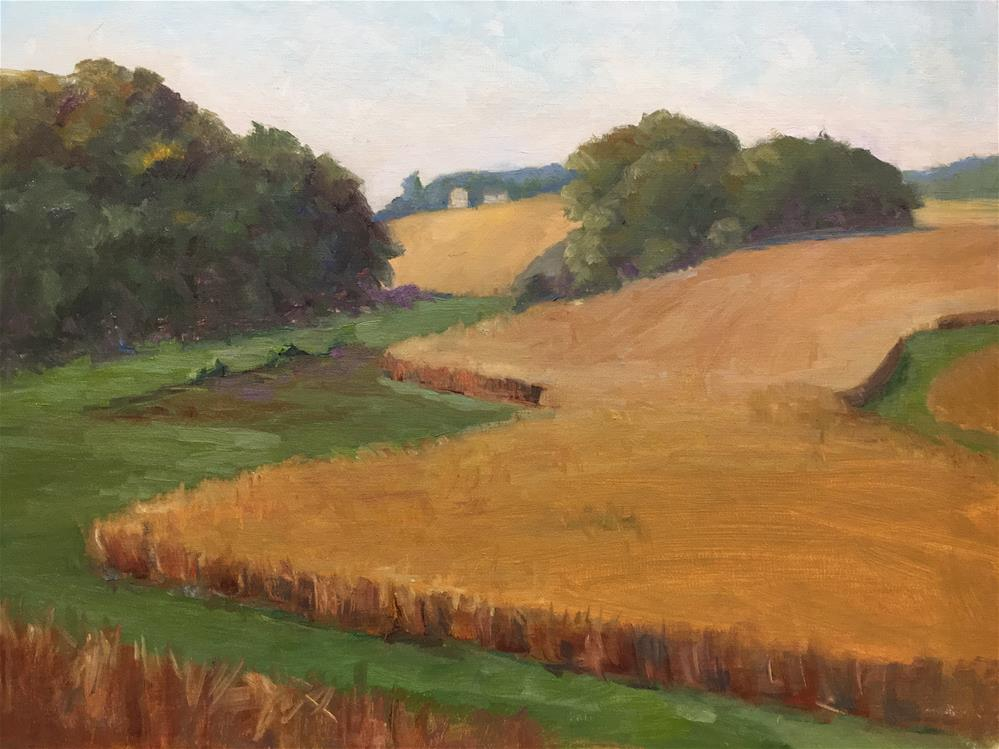 """Autumn Fields"" original fine art by Judith Anderson"