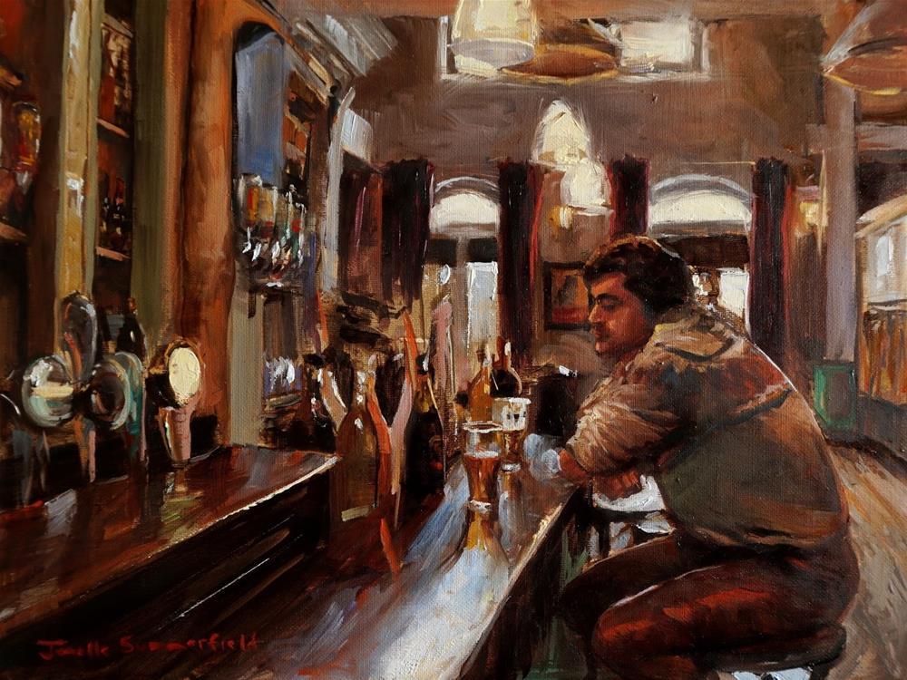 """""""A Pub in Cork"""" original fine art by Jonelle Summerfield"""