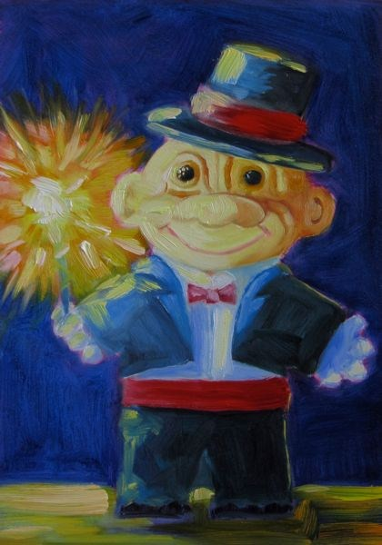 """Happy New Year"" original fine art by Mb Warner"