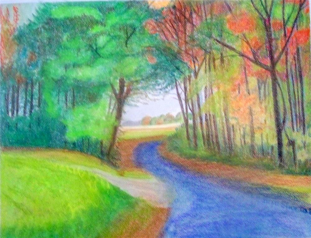 """An Autumn Drive"" original fine art by Elaine Shortall"