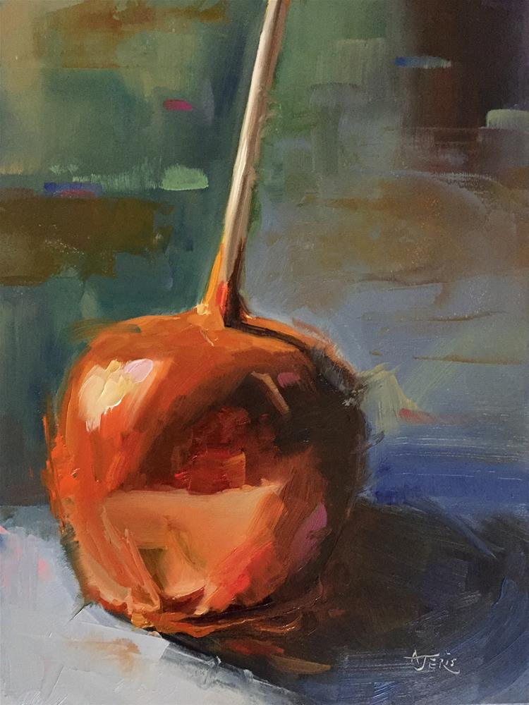 """Caramel Apple Time"" original fine art by Andrea Jeris"
