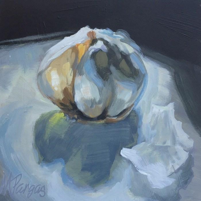 """""""Garlic Bulb"""" original fine art by Mary Pargas"""
