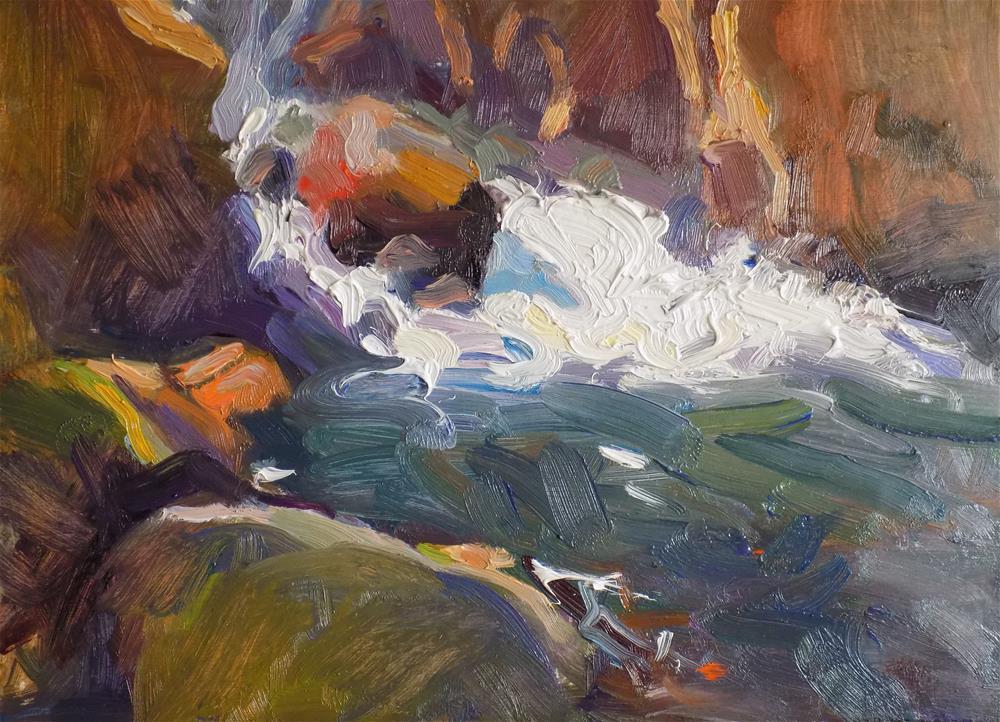 """Rushing River"" original fine art by Rita Brace"