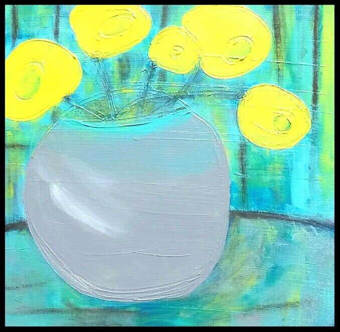 """""""Yellow Blooms"""" original fine art by Christy Tremblay"""