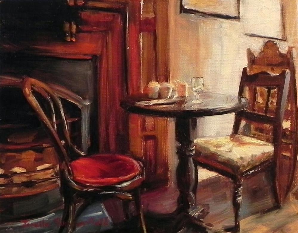 """Coffee Shop"" original fine art by Jonelle Summerfield"
