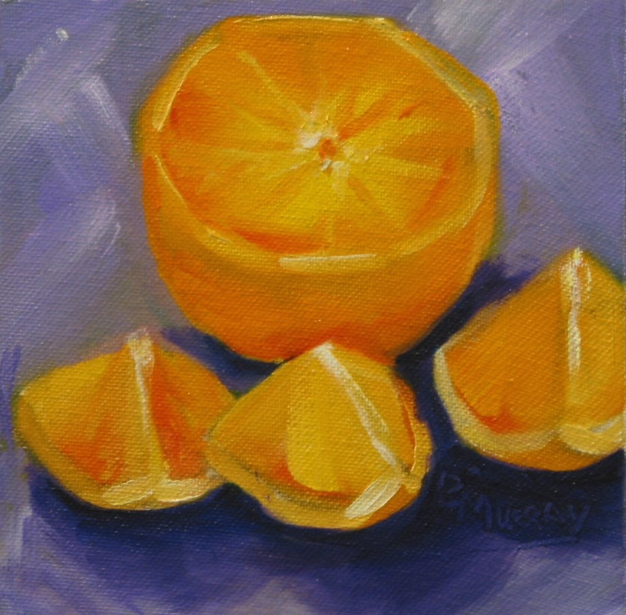 """Carol's Orange"" original fine art by Patricia Murray"