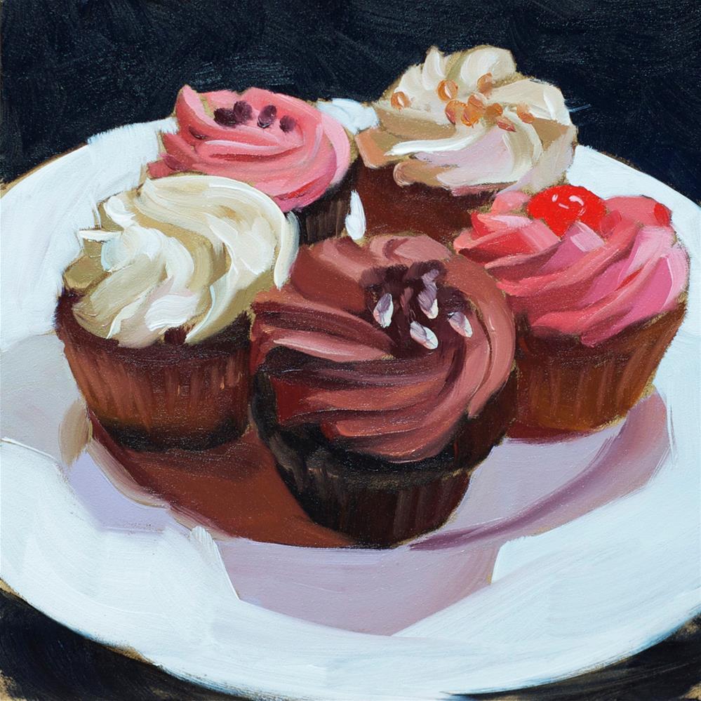 """Cupcakes"" original fine art by Heather Bullach"