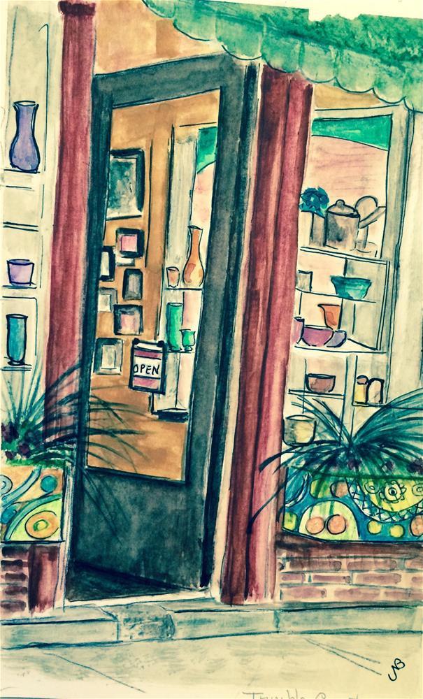 """Trimble Court"" original fine art by Nancy Beard"