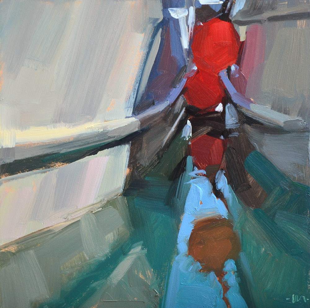 """Boat Bumpers"" original fine art by Carol Marine"