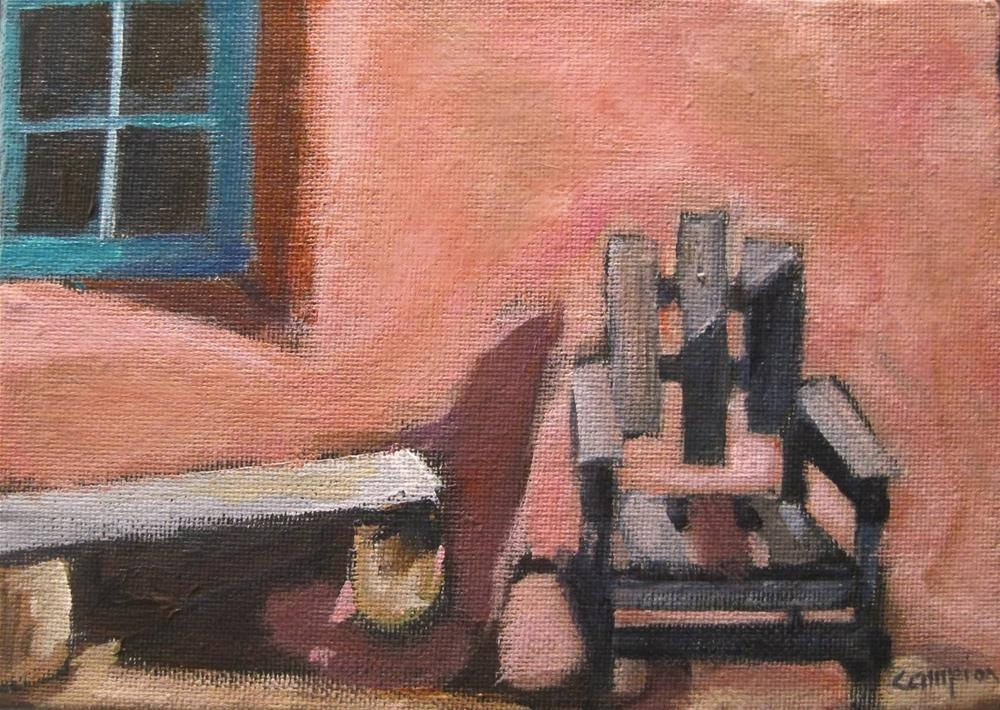 """216 Come Sit For Awhile"" original fine art by Diane Campion"