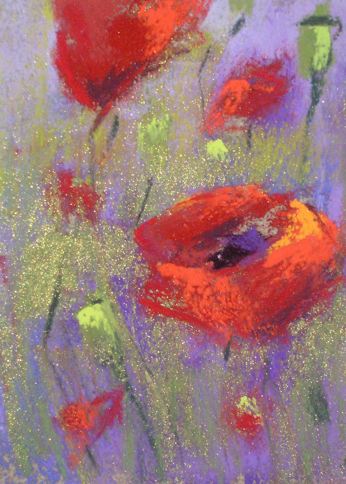 """Poppy Surprise"" original fine art by Karen Margulis"
