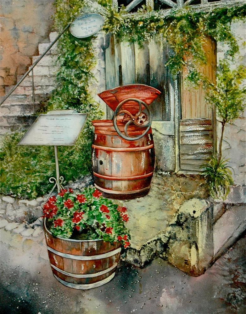 """""""Wine in the Making"""" original fine art by Diane Fujimoto"""