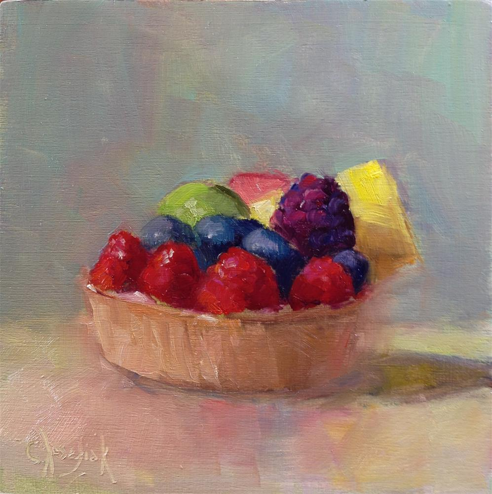 """6 Fruits a Day"" original fine art by Carol Josefiak"