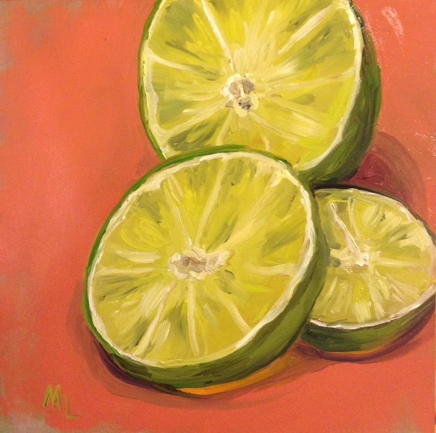 """Slice of Lime"" original fine art by Marjie Laizure"