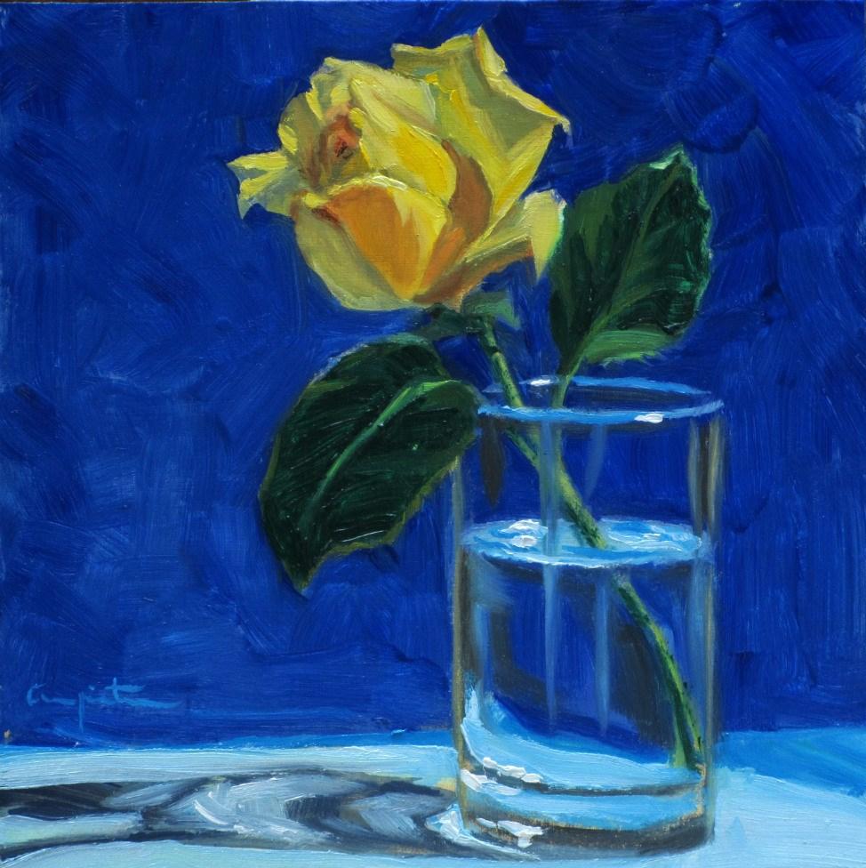 """Rosa Amarilla"" original fine art by Eduardo Carpintero"