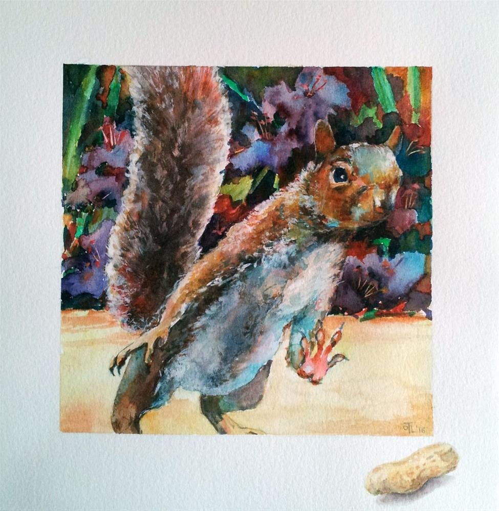 """DCS # 26 Squirrel Challenge"" original fine art by Olga Touboltseva-Lefort"
