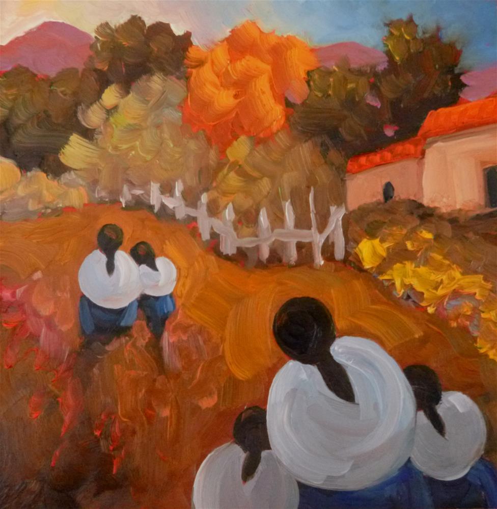 """""""45 HEADING HOME"""" original fine art by Dee Sanchez"""