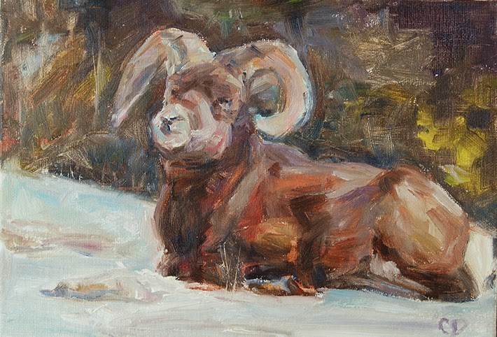 """King of the Mountain"" original fine art by Carol DeMumbrum"