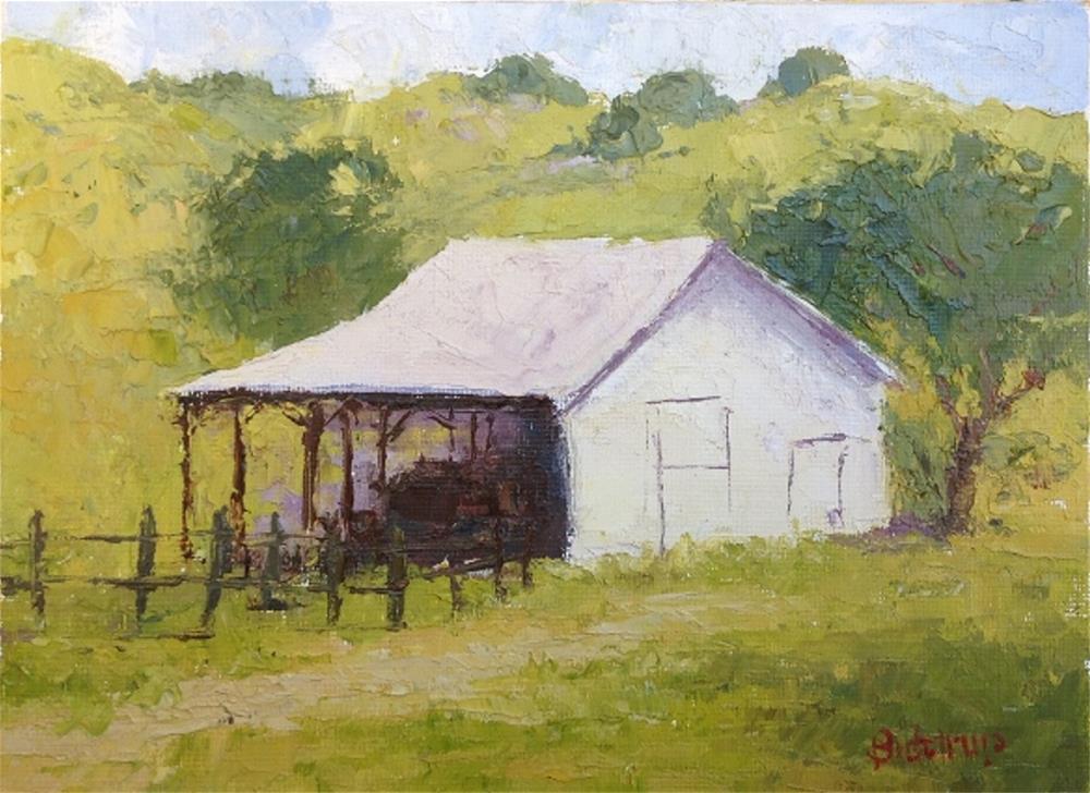 """Martinez Cow Barn"" original fine art by Mark Bidstrup"