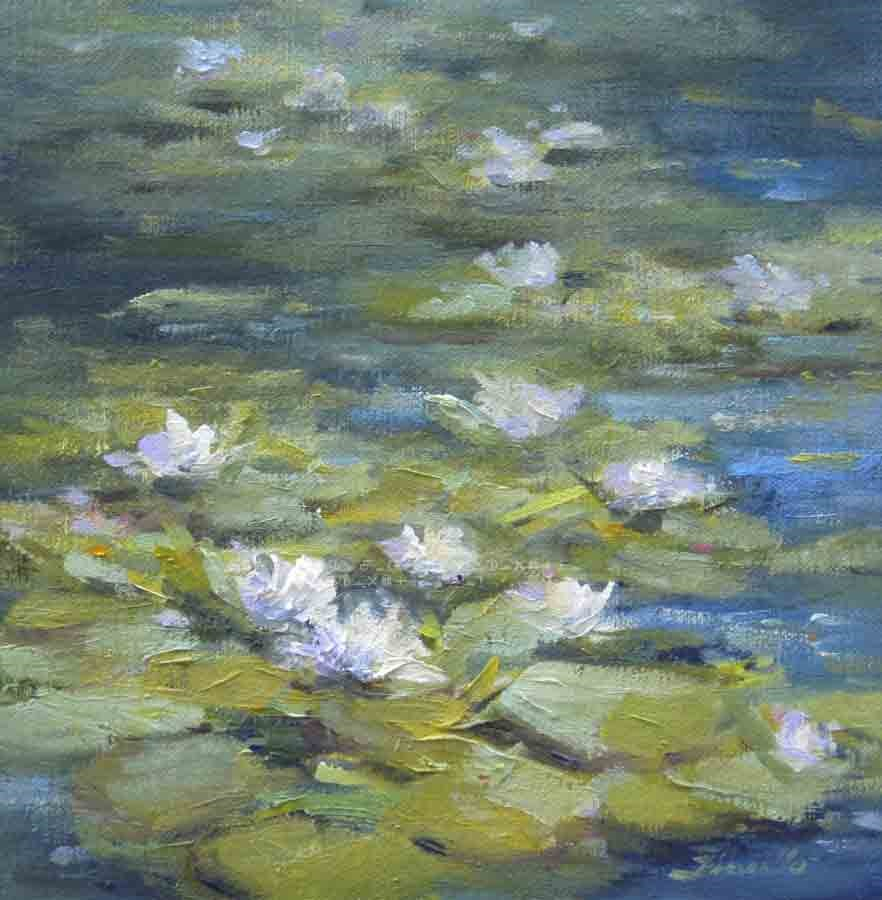 """Monet's Lilies"" original fine art by Pat Fiorello"