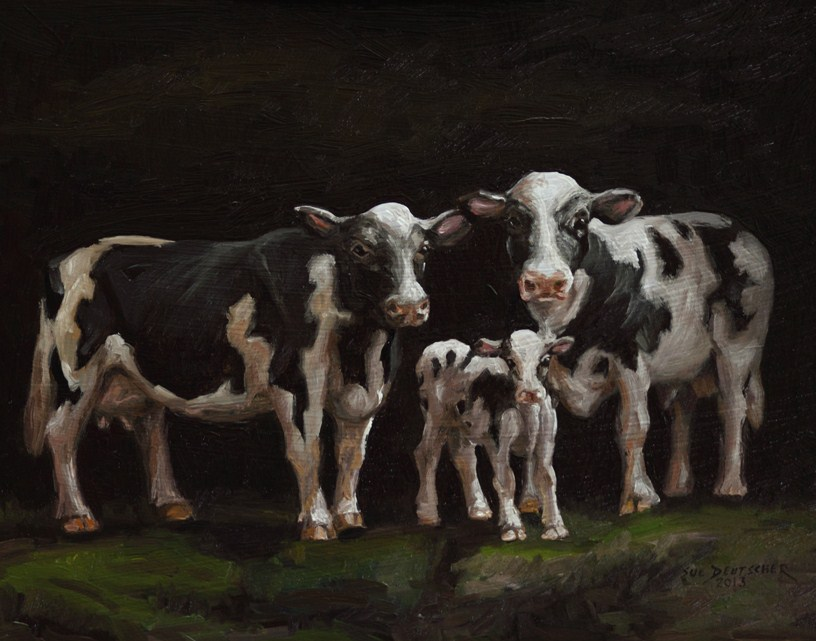 """Holstein Family Portrait"" original fine art by Sue Deutscher"