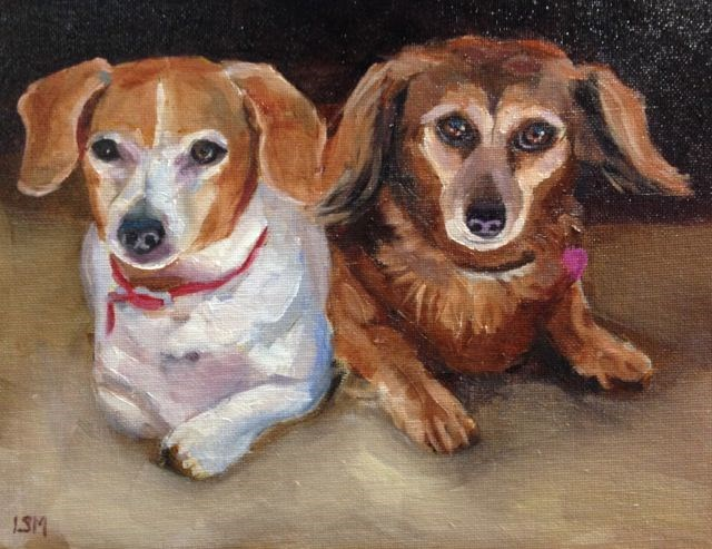 """Sadie and Zoey"" original fine art by Linda Marino"