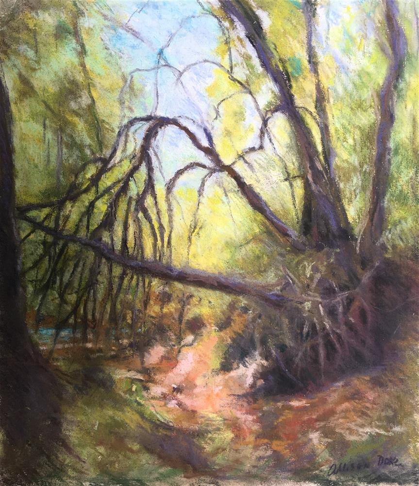 """By the River"" original fine art by Allison Doke"