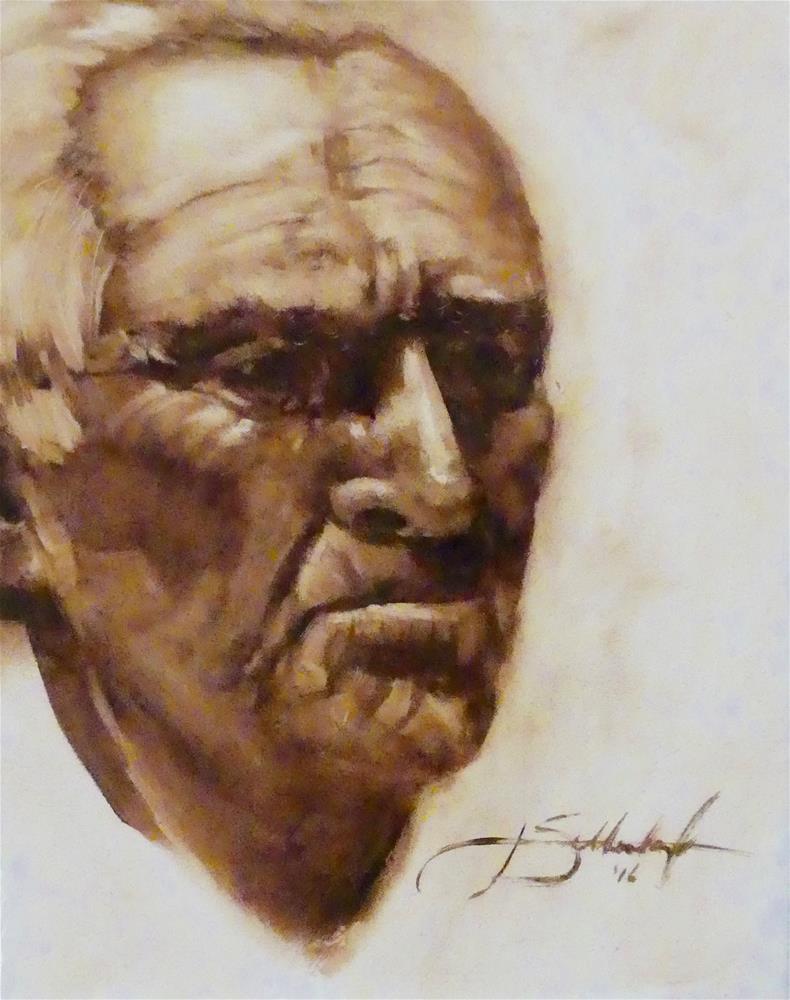 """Navajo Man"" original fine art by Janet Setterland"